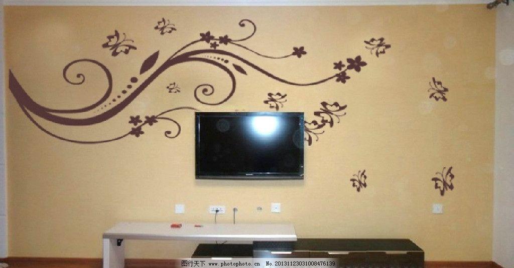 甩花电视背景墙 甩花 硅藻泥背景墙 大气背景墙 矢量图案 蝴蝶 其他