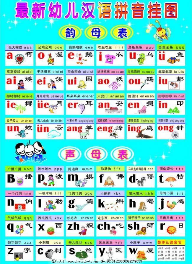 汉语拼音字母表挂画图片图片