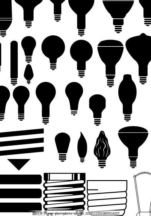 灯泡图片,白炽灯 标识标志图标 插座 剪影 节能灯-图