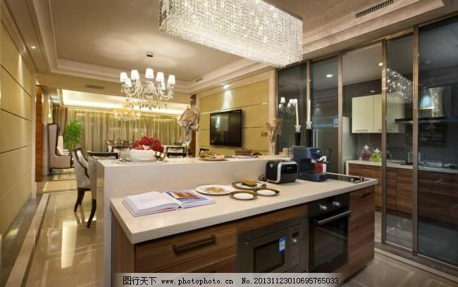 橱柜 家具 厨具 沙发 万科样板房      玻璃移门 餐厅 欧式样板房