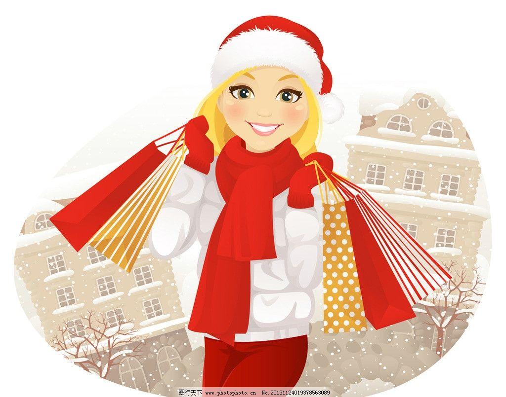 古装手绘美女下雪