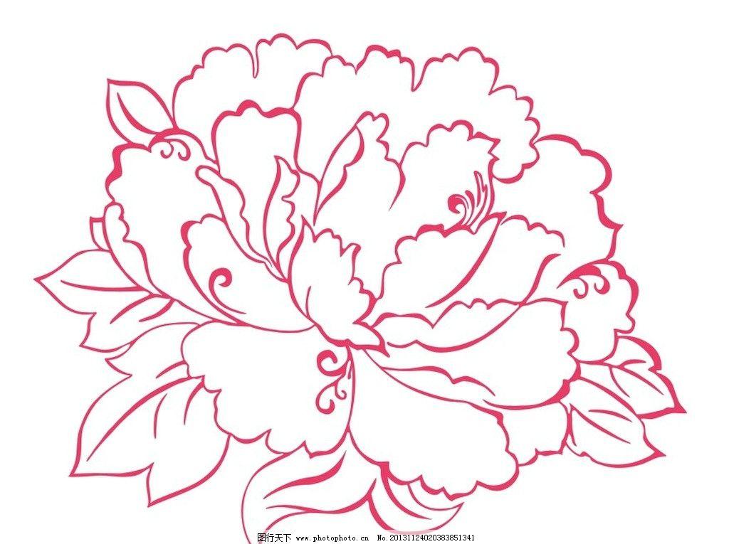 牡丹线稿画画法步骤