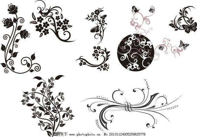 藤条花纹免费下载 底纹 花纹 花枝 藤条 花纹 花枝 藤条 底纹 矢量图
