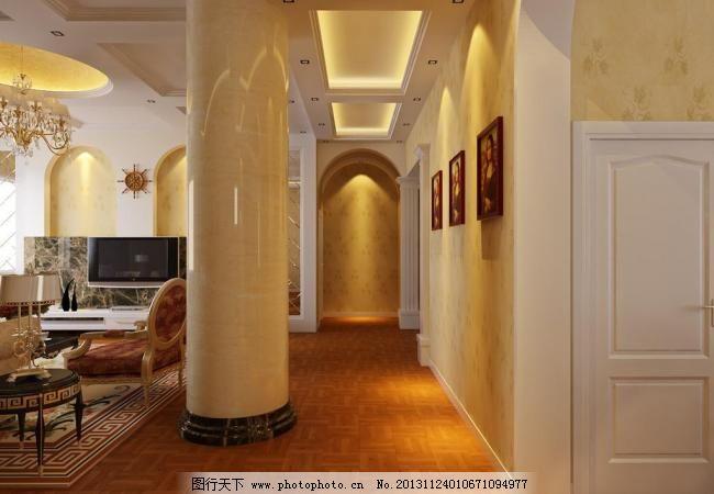 别墅走廊效果图图片图片
