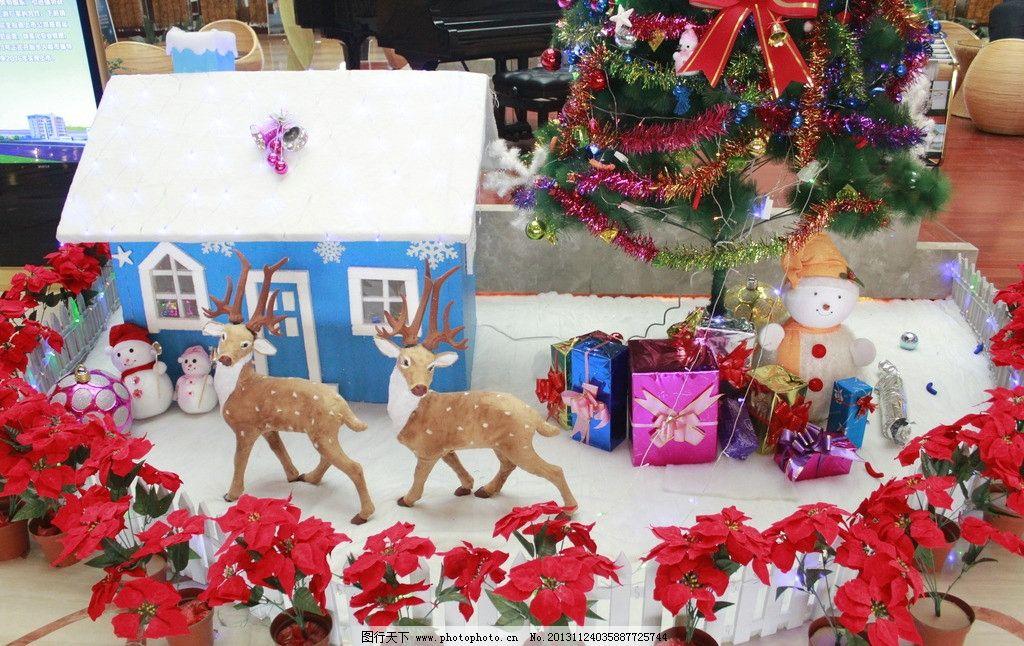 圣诞屋图片_树木树叶_生物世界_图行天下图库