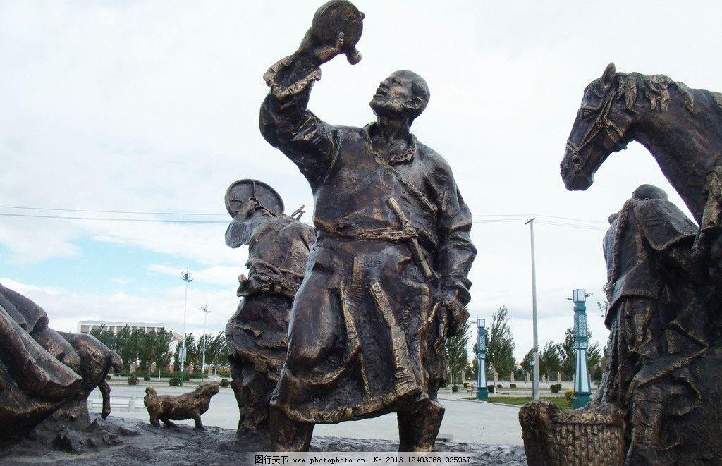 雕塑人物图片