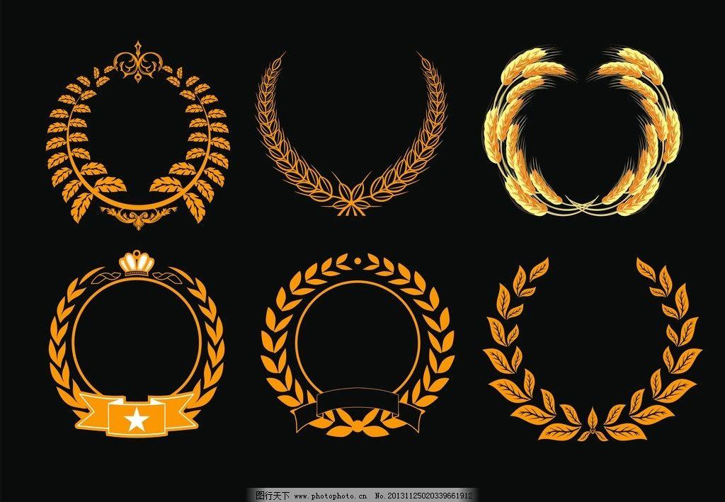 麦穗图片,标志 皇家 欧美 欧式 皇冠 粮食 徽章-图行