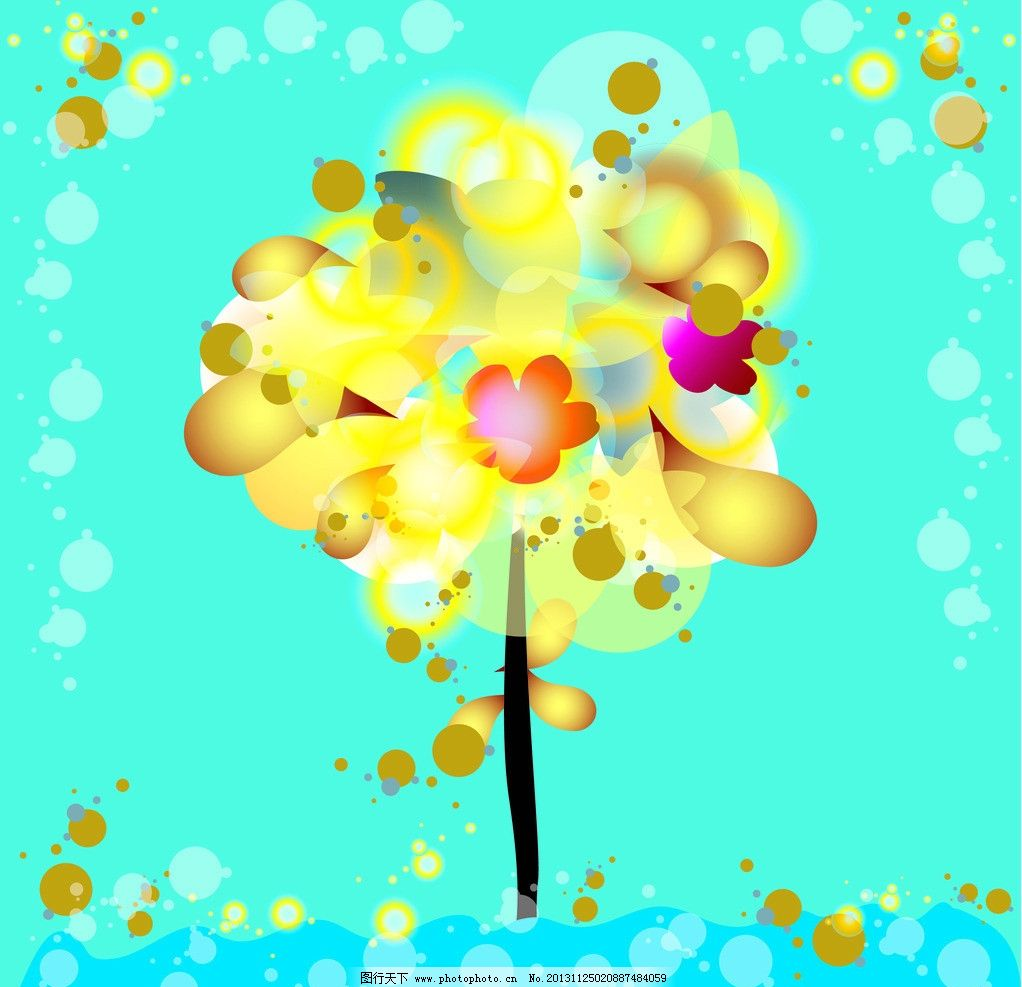 卡通欧式简约树木