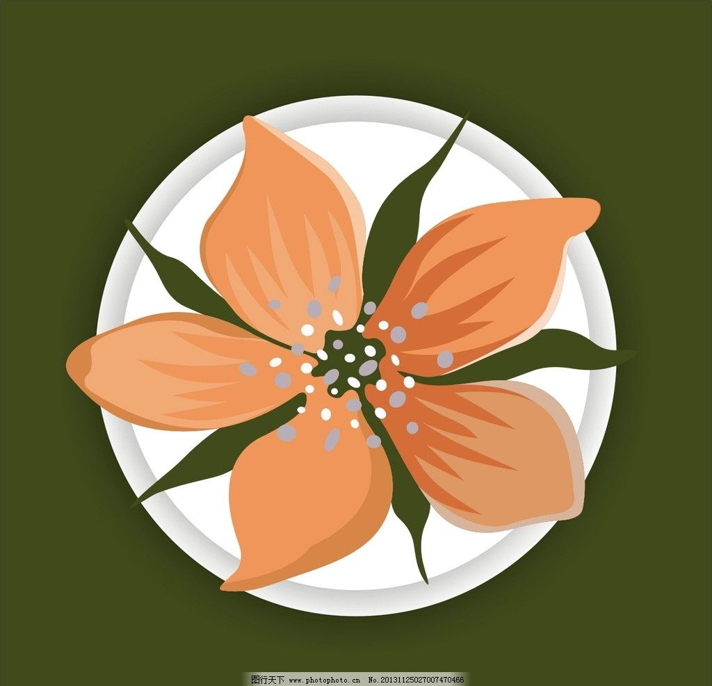 花瓣 图案 背景 边框 圆圈 素材 底纹 花草 生物世界 矢量 cdr