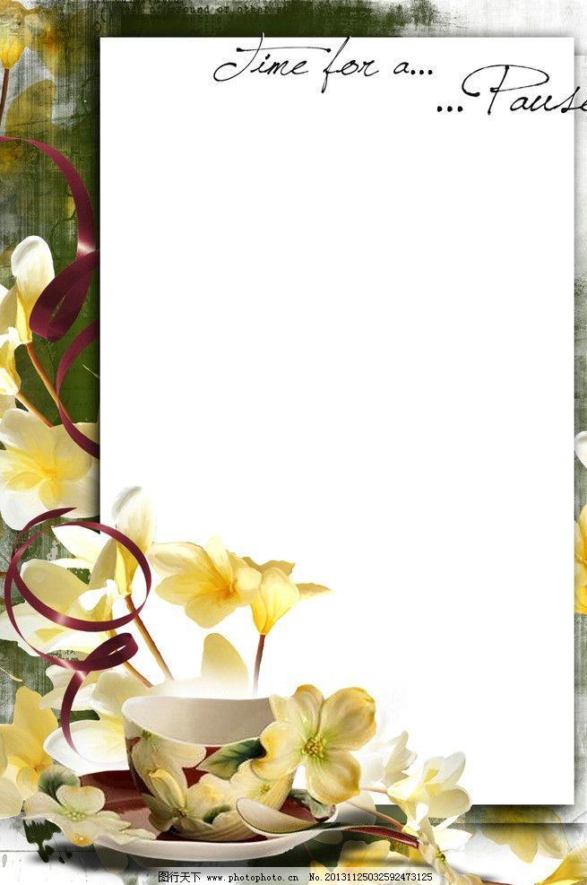 花卉背景模板图片