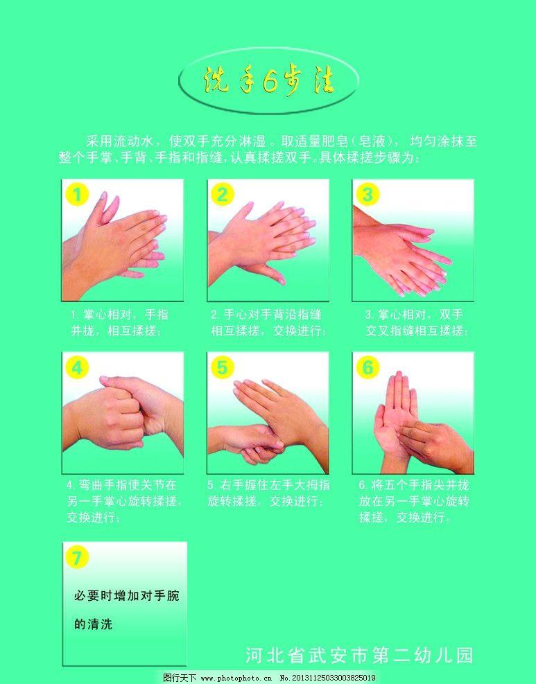洗手步骤图片