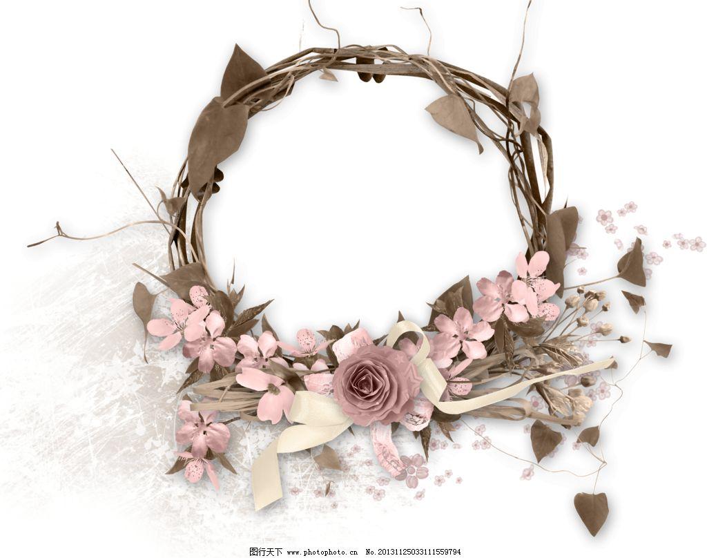 花朵 手绘花纹 花边花纹 设计 边框相框 118dpi png psd源文件 婚纱