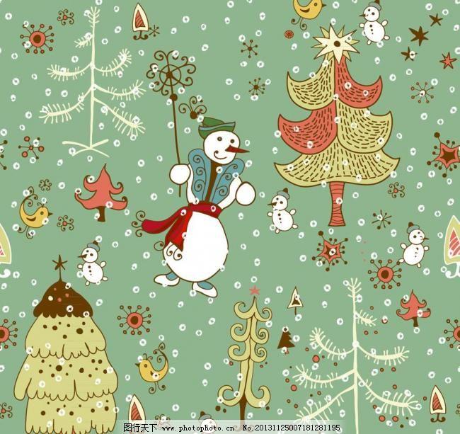 时尚背景 手绘画 漫画 花纹背景 动漫设计 幼儿卡通 圣诞贺卡 幼儿园