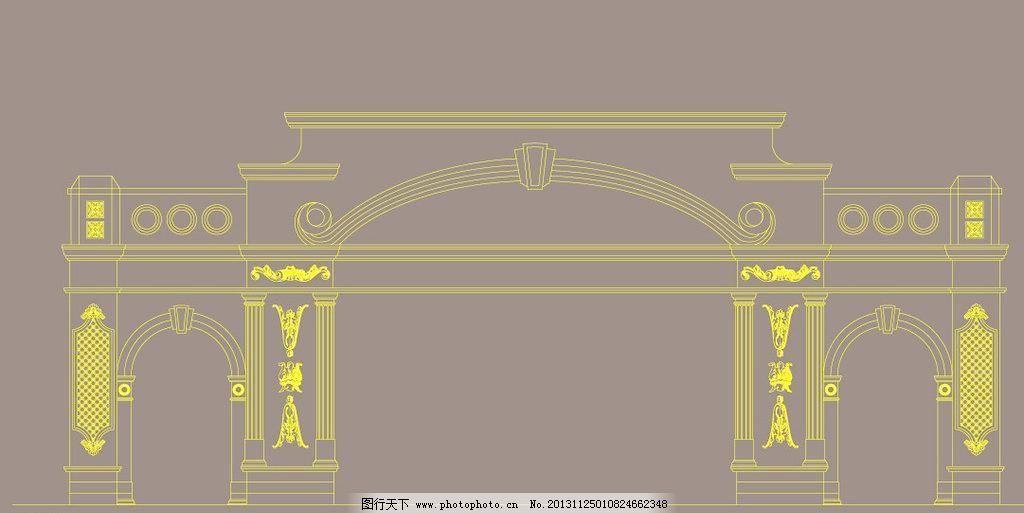 欧式拱门1 传统 传统建筑 复古 建筑家居 罗马柱 线条 矢量
