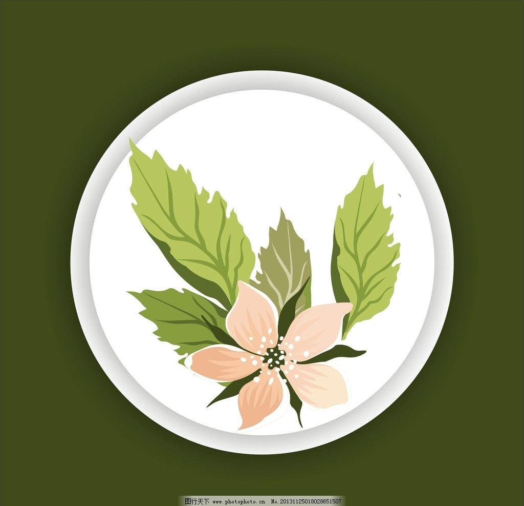 花纹 图案 背景 边框 圆圈 素材 底纹 花草 生物世界 矢量 cdr