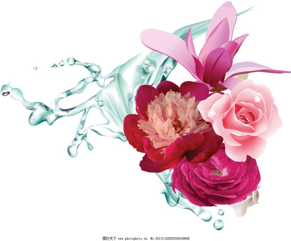 玫瑰 花蕾 含苞欲放 手绘花纹 精美花纹 手绘花朵 移门花纹 欧式复古