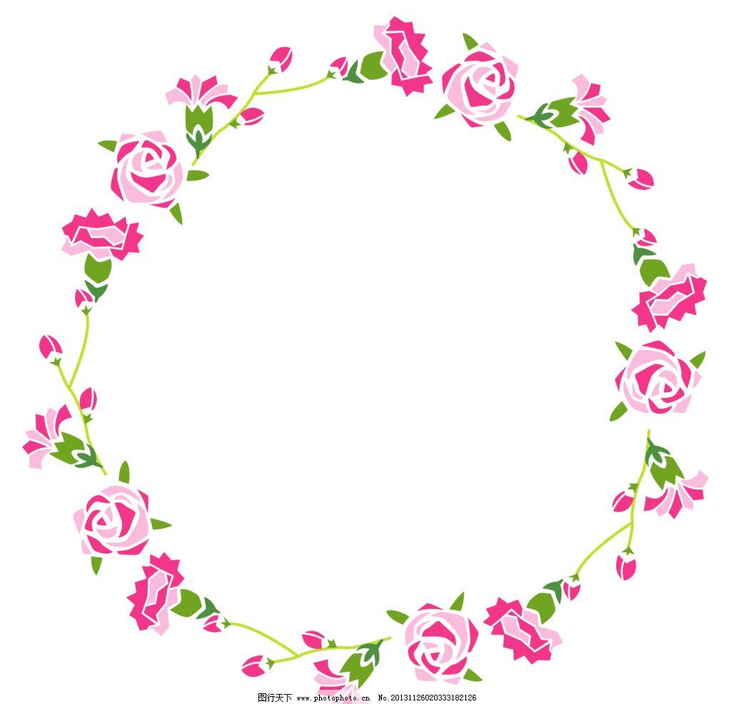 玫瑰画框 玫瑰 手绘玫瑰 玫瑰移门 玫瑰图案 玫瑰花环 花环 相框 文字