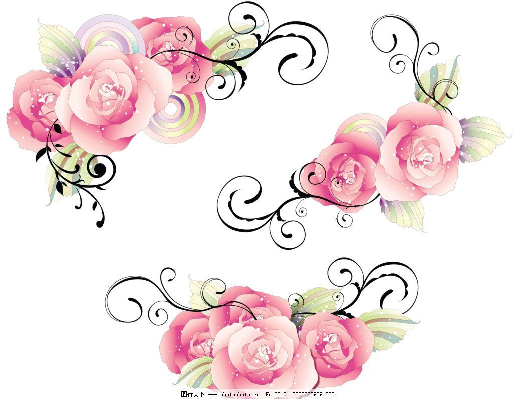 欧式复古 花纹 背景 花纹背景 壁纸设计 移门图案 清新花纹 玫瑰墙纸