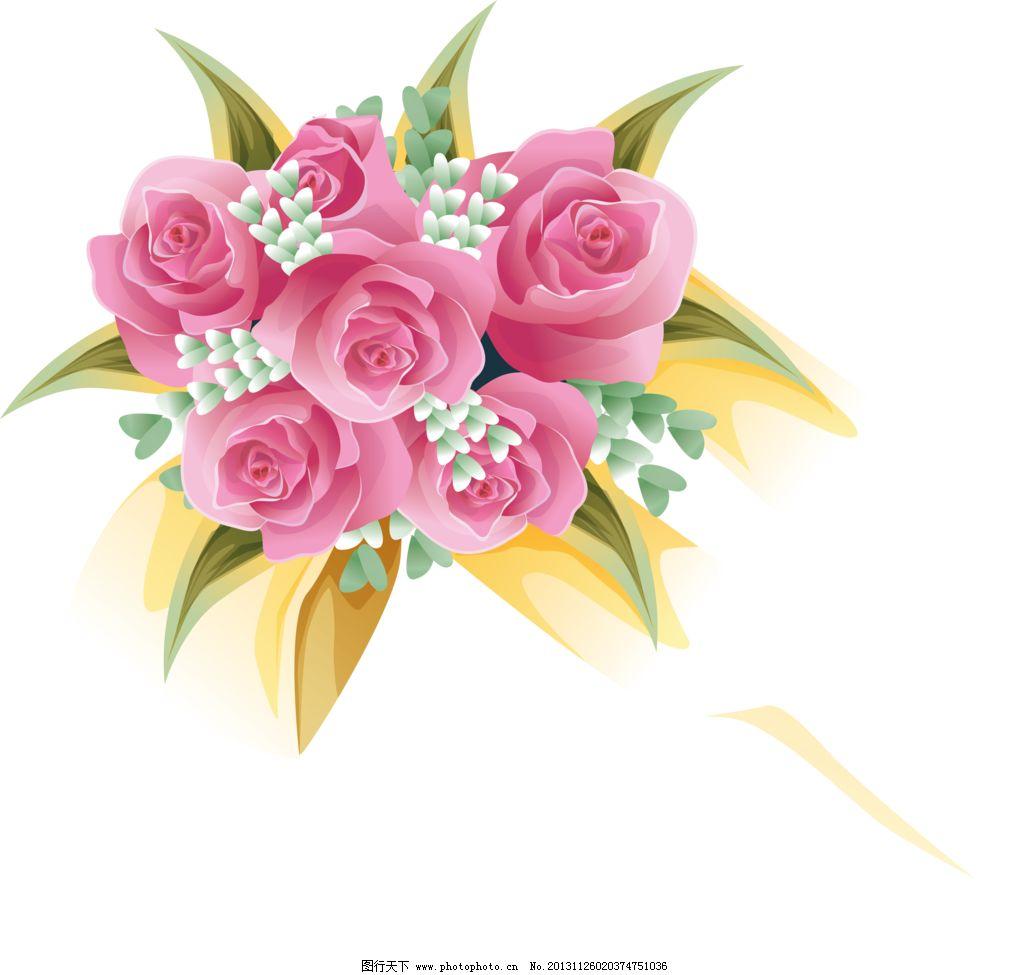 一束玫瑰 红玫瑰 花蕾 含苞欲放 手绘花纹 精美花纹 手绘花朵 移门