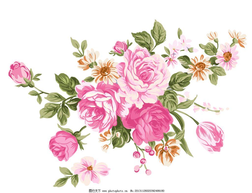 花蕾 含苞欲放 手绘花纹 精美花纹 手绘花朵 移门花纹 欧式复古 花纹图片