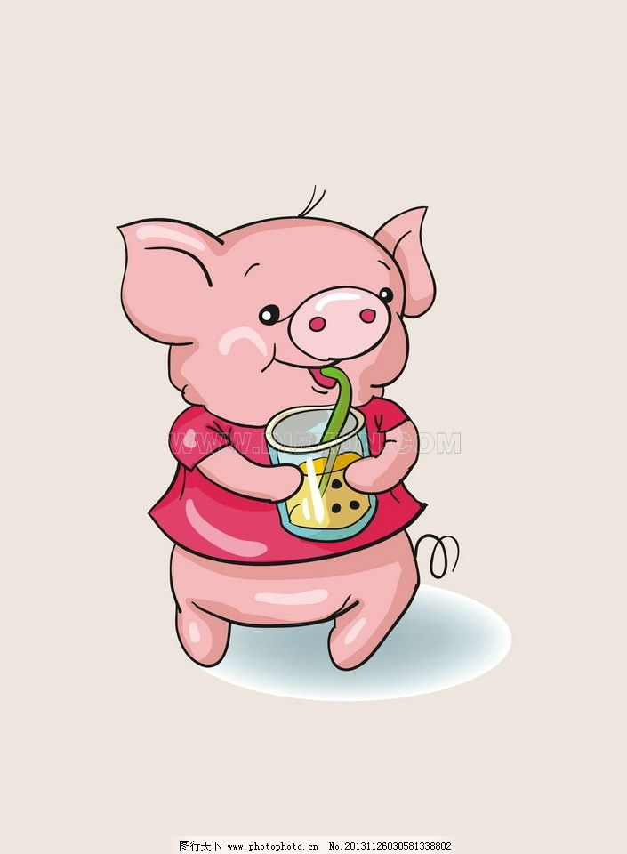 猪 粉红色小猪 卡通图片