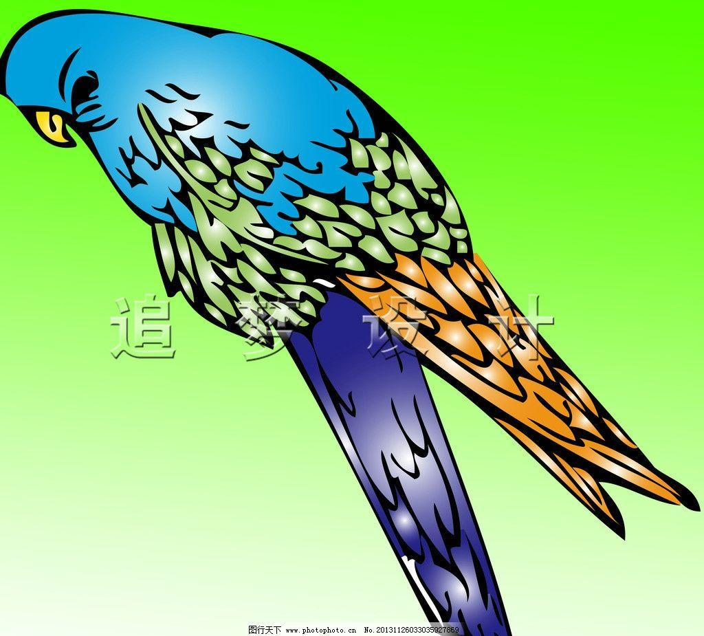 喜鹊 鸟 鹦鹉 彩色的鸟 卡通画小鸟 psd 卡通 psd分层素材 源文件 300