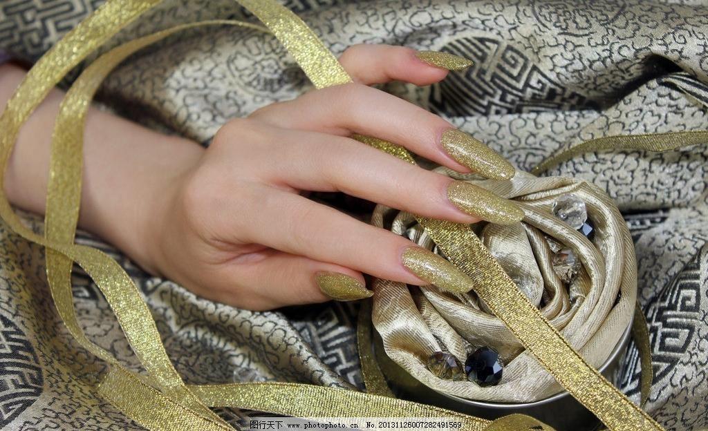 其他人物 人物图库 摄影 手部 指甲 时尚美甲手模图片素材下载