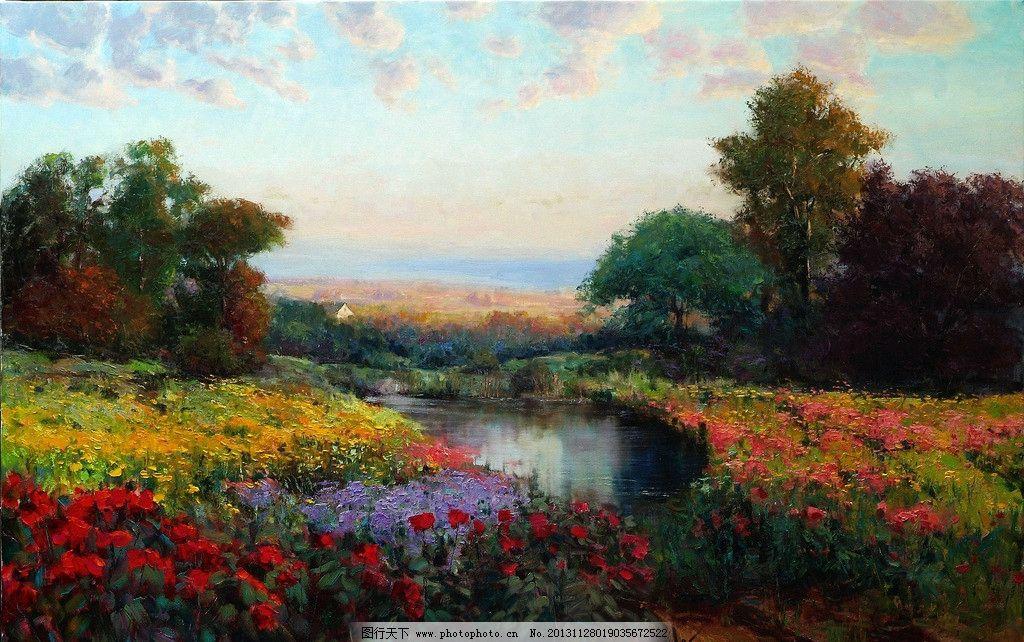 油画风景 油画 艺术 绘画