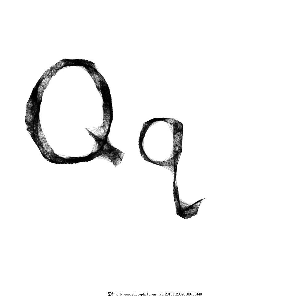 蜘蛛网字体q 蜘蛛网字体 线形字体 英文字母 q 字母q 其他图标 标志