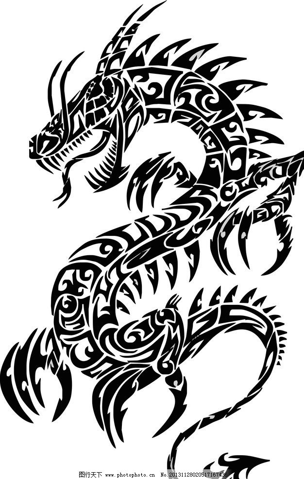 龙图腾 龙 图腾 帝王      素材 复古 雕花 镂空 条纹线条 底纹边框