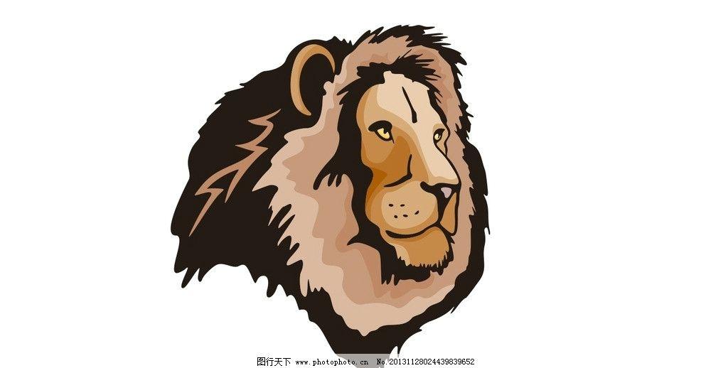 狮头 矢量图 狮子 雄狮 狮头矢量图 站姿 行走 野生动物矢量图