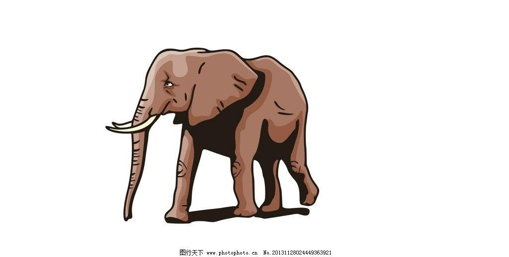 大象 矢量图 大象矢量图 矢量 站姿 行走 野生动物 矢量动物图 生物世