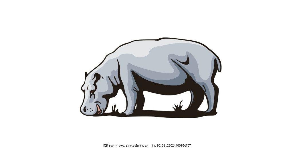 犀牛 矢量图 犀牛矢量图 矢量 站姿 行走 野生动物 野生动物矢量图 矢