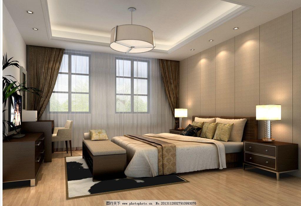 卧室效果图图片_室内设计_环境设计_图行天下图库