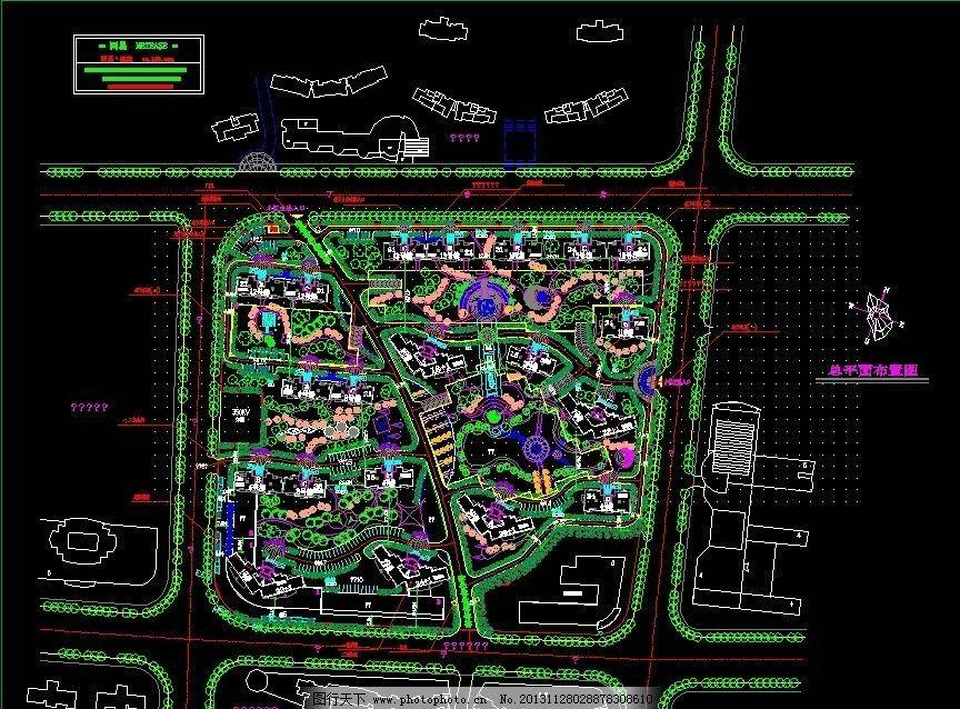 花园规划 某小区 花园 规划图 平面图 花园设计 室内图片 树木素材
