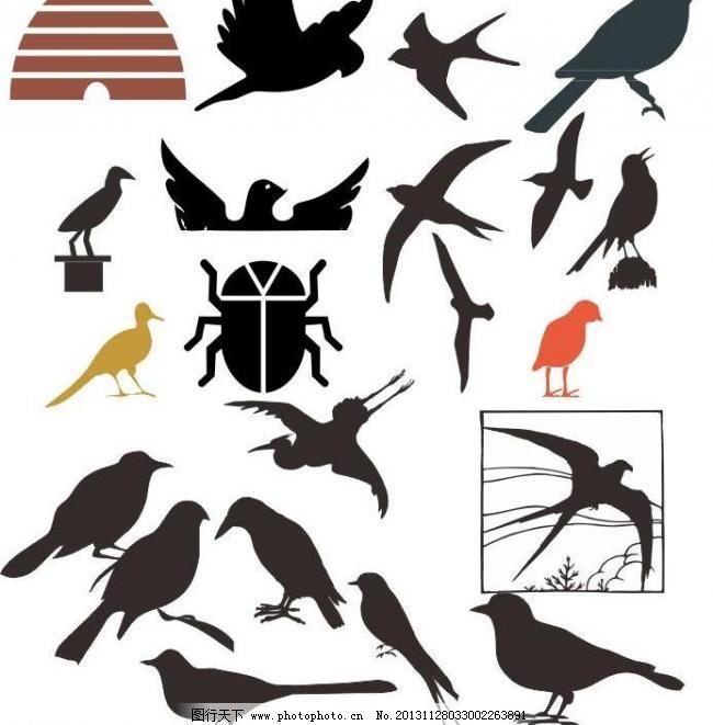 动物 动物剪影 动物世界