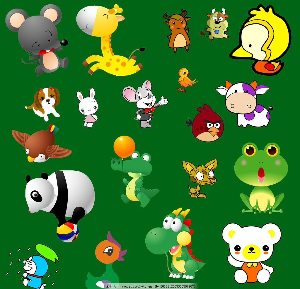 卡通 小动物 幼儿园 小学 学校 儿童 老鼠 青蛙 鸡 龙 多拉a梦 叮当猫