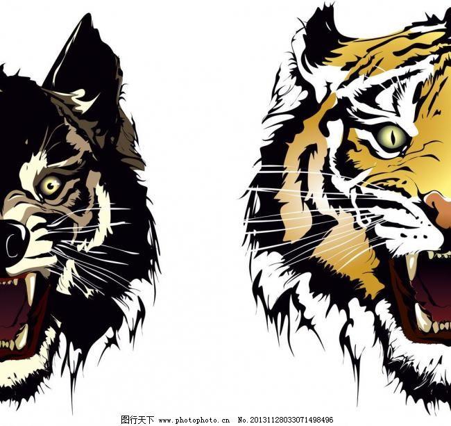 动物图案剪影 动物 图案 剪影 图形 刺青 纹身 纹样 图样 头像 狼