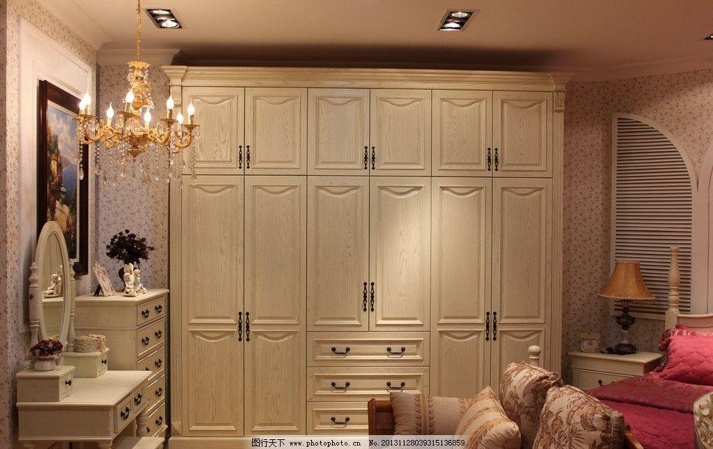实木衣柜 实木衣柜图片素材下载 卧室设计 沙发 鞋柜 妆台 装饰画 灯