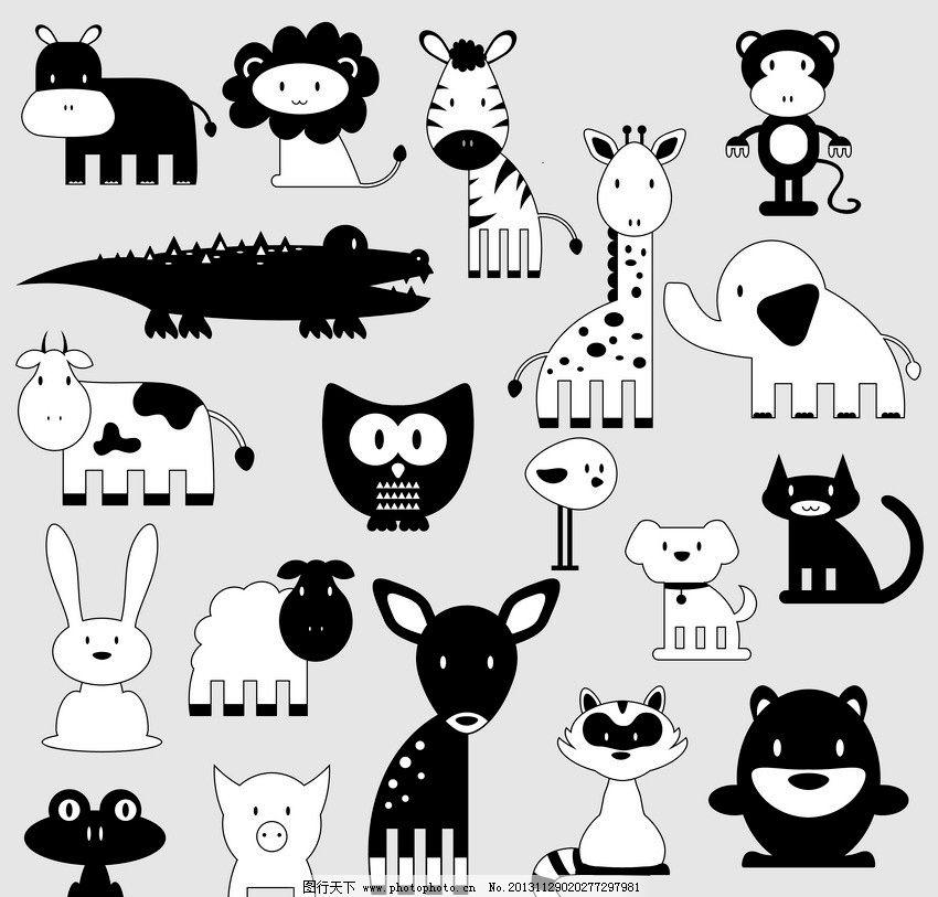 卡通动物背景图片_背景底纹
