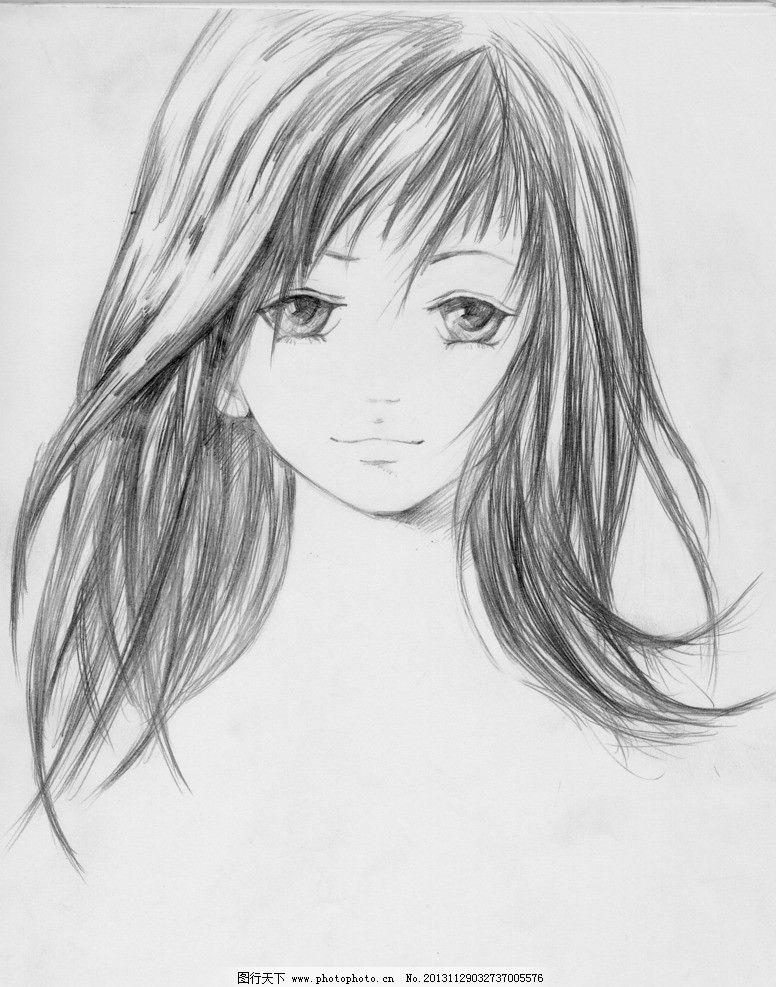 素描人头像照片黑白