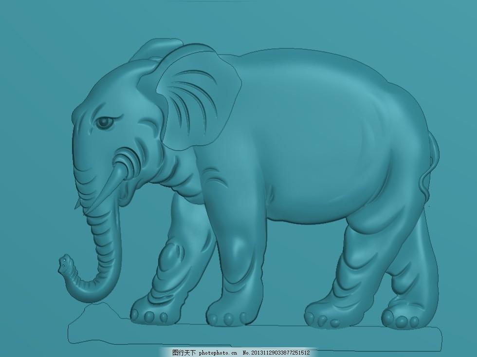 大象 精雕图 浮雕图 灰度图 电脑雕刻图 其他 源文件 jdp