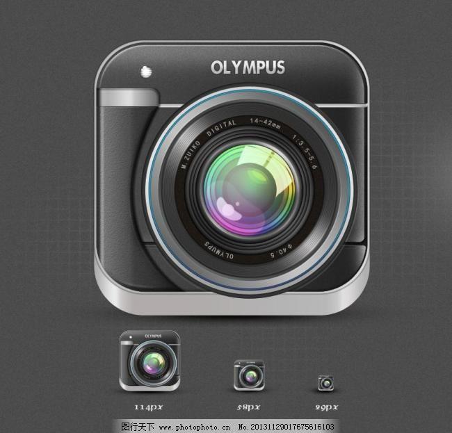 相机下载_psd 图标 网页 网页模板 相机 源文件 中文模版 相机app素材下载 相机