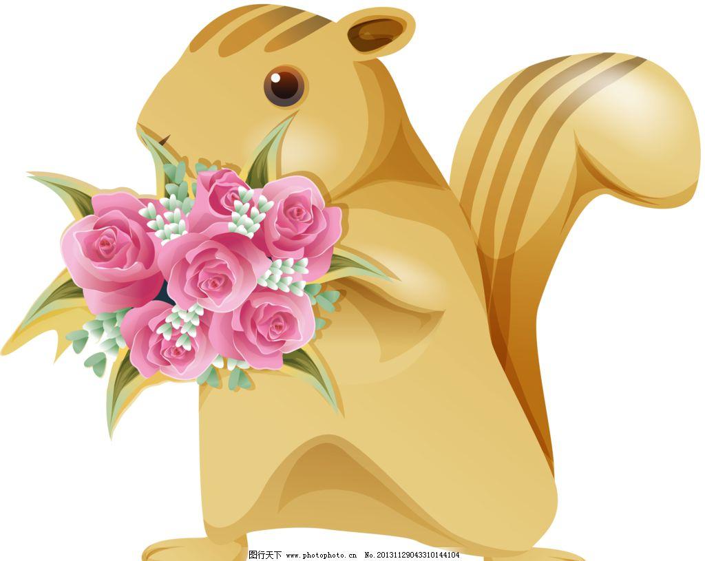 松树和玫瑰图片