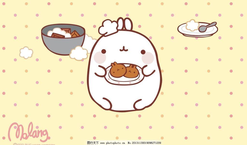 卡通 动物 兔子 韩国卡通 美食 厨师 饼干 曲奇 矢量动漫 美术绘画