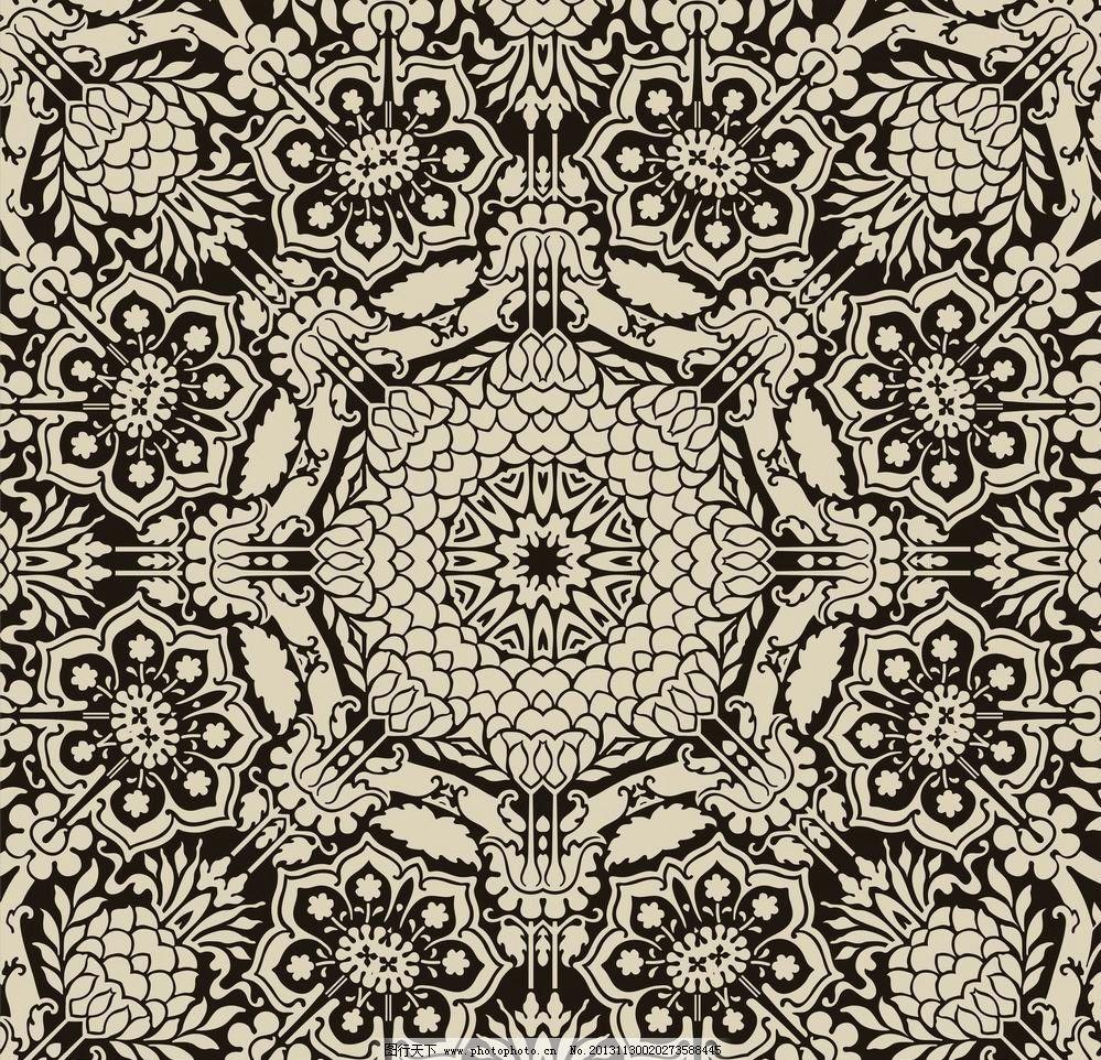 花纹背景 花纹 花朵 花卉 丝织 纺织 刺绣 古典 欧式 时尚 潮流 背景