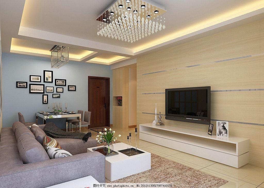 室内效果图 家装效果图 方案 欧式 建筑 简约 电视机 沙发 现代简欧
