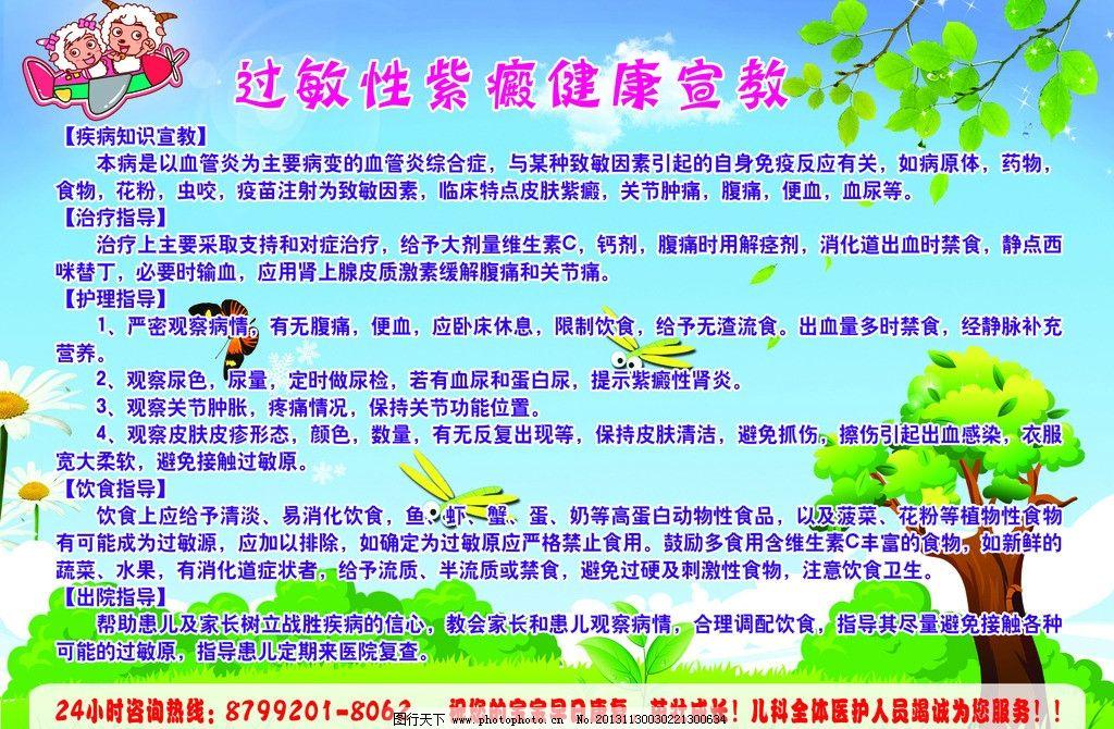 过敏性紫癜健康宣教 过敏性紫癜 健康宣教 儿科 医院 宣教知识 展板