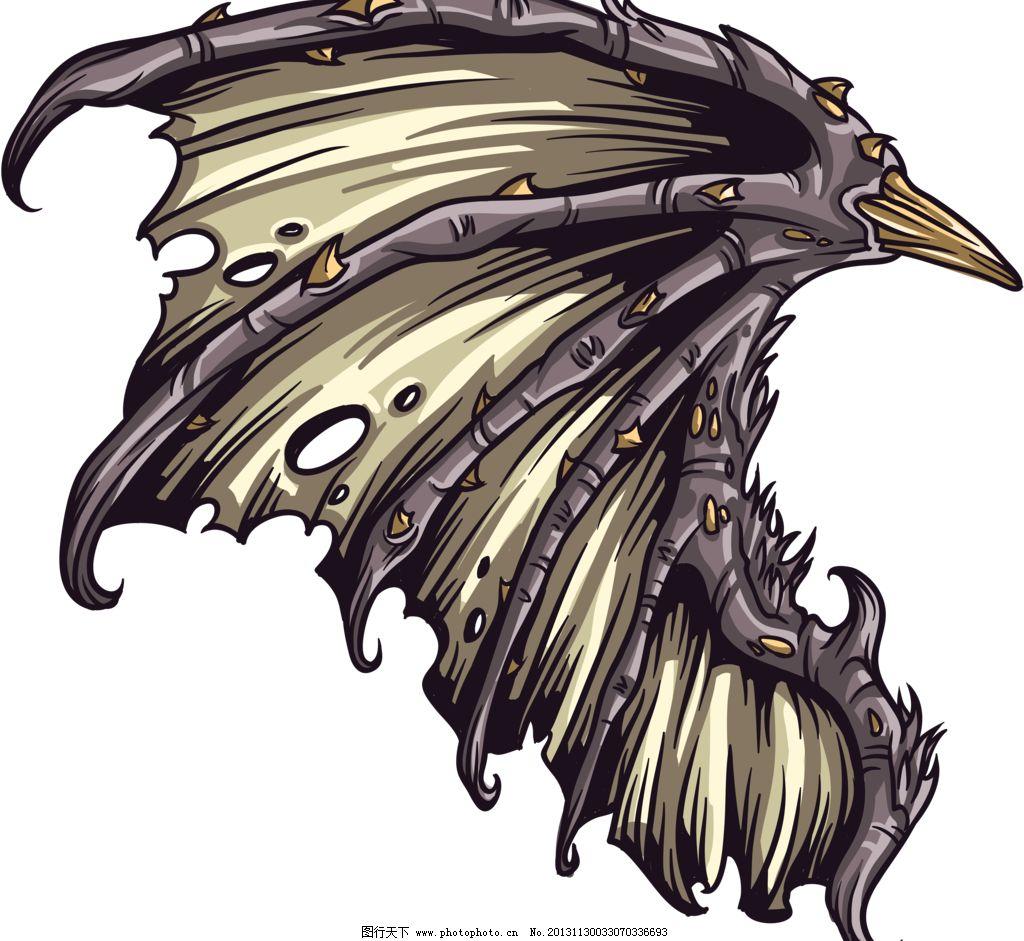 翅膀 手绘翅膀 酷炫翅膀 羽毛 天使翅膀 天使之翼 素描翅膀 手绘风格