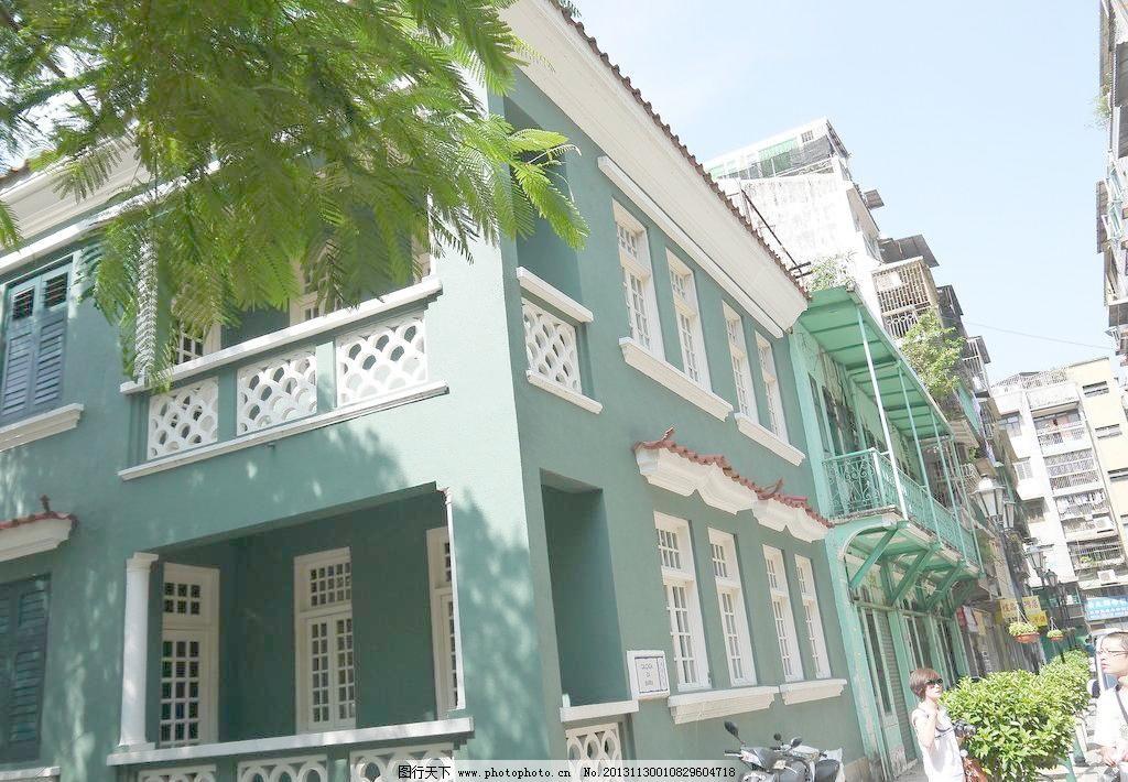 欧式绿色房子图片